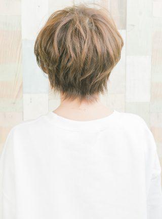 ラフな抜け感前髪ショート